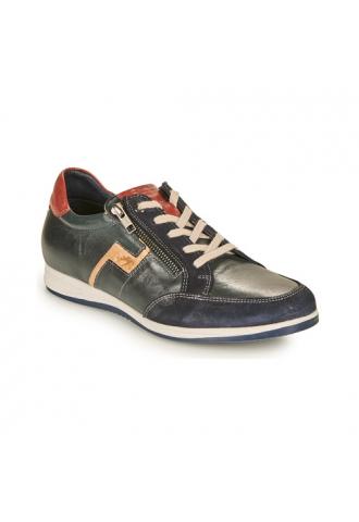 Sneaker confort zip bleu rouge